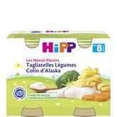 HiPP menus tagliatelle légume colin 2x190g dès8mois