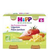 HiPP légumes pâtes jambon 2x190g dès 6mois