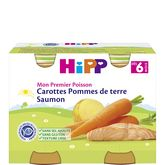 HiPP carottes pommes de terre saumon 2x190g dès 6 mois