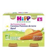 HiPP carotte pommes de terre boeuf pots 2x190g dès 6mois