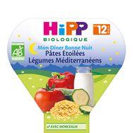Hipp bio mon dîner pâtes légumes méditerranéens 230g 12mois