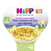 HiPP Hipp Assiette pâtes animaux du zoo au légumes bio dès 12 mois 230g
