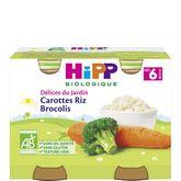 HiPP mes premiers légumes carotte riz brocolis 2x190g 6m