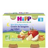 HiPP gratin de lasagnes au céleri pots 2x190g dès 8mois