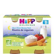 Hipp bio risotto de légumes 2x190g dès 8mois