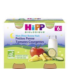 Hipp petites penne tomates et courgettes bio 2x190g dès6mois