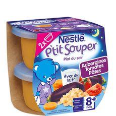 Nestlé Nestlé Naturnes aubergine tomate pâte 2x200g 8mois