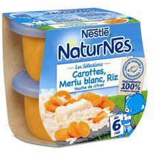 Naturnes carottes merlu riz citron dès 6 mois 2x200g