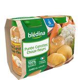 Blédina pot purée carotte chou fleur 2x200g dès 6 mois