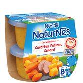 Nestlé Naturnes sélection carottes potiron canard 2x200g dès 8 mois