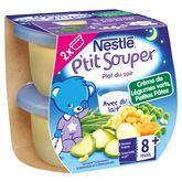 Nestlé Nestlé Naturnes crème de légume vert pâte 2x200g dès 8mois