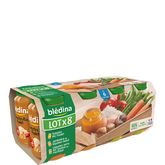 Blédina pot légume riz poulet saumon boeuf 8x200g dès 6 mois