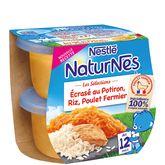Nestlé naturnes sélection potiron riz poulet 2x200g 12 mois