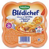 Blédina mitonné carottes macaroni boeuf 260g dès 24 mois