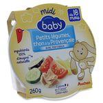 Auchan Baby assiette légumes thon provençale 260g dès 18mois