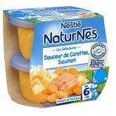 Nestlé Naturnes douceur de carottes saumon dès 6 mois 2x200g