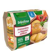 Blédina pot printanière de légumes jambon 2x200g dès 6 mois