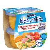 Nestlé Nestlé Naturnes carotte pâte jambon dès 12mois 2x200g