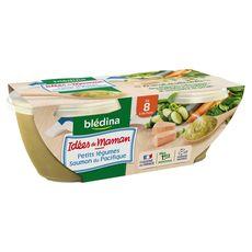 BLEDINA Blédina Idées de maman bol petits légumes et saumon dès 8 mois 2x200g 2x200g