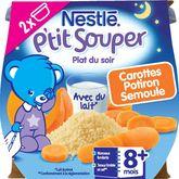 Nestlé ptit souper carottes potiron semoule 2x200g dès 8mois