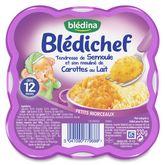 Blédina semoule moulinée carotte lait 230g dès12mois
