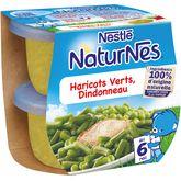 Nestlé Nestlé Naturnes haricot vert dindonneau 2x200g dès 6 mois