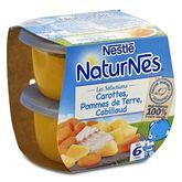 Nestlé Naturnes carottes pommes de terre cabillaud dès 6mois 2x200g