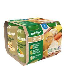 BLEDINA Blédina Petits pots différentes variétés légumes viandes dès 6mois 4x200g 4x200g