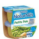Nestlé naturnes petits pois 2x130g dès 4 mois