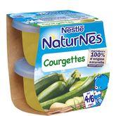 Nestlé naturnes courgettes 2x130g dès 4 mois