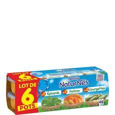 Nestlé Naturnes courgettes épinard potiron 6x130g dès 4mois