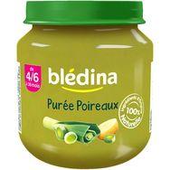 Blédina purée de poireaux pot 130g dès 4/6mois