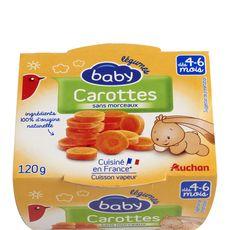 AUCHAN Auchan baby bol premiers repas carottes 120g dès 4/6 mois