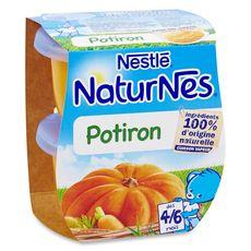 Nestlé naturnes potiron 2x130g dès 4 mois