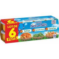 NESTLE Nestlé Naturnes carotte haricot vert potiron 6x130g 4/6mois