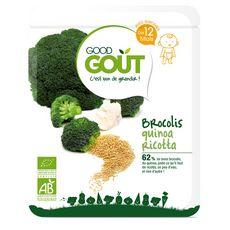 GOOD GOUT Brocolis quinoa ricotta bio dès12mois 220g