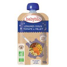 BABYBIO Babybio gourde bonne nuit légumes millet 120g dès 6 mois