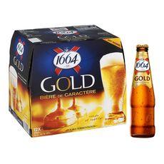 1664 Bière blonde gold 6,1% bouteilles 12x25cl