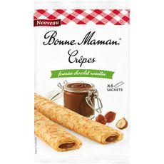 Bonne Maman crêpes chocolat au lait noisettes x6 -192g