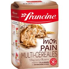 FRANCINE Mon pain, farine multi-céréales 1,5kg