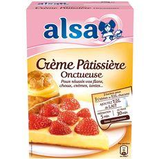 Alsa préparation crème pâtissière onctueuse 3 sachets 390g