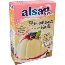 Alsa préparation flan entremets au bon goût vanille 192g
