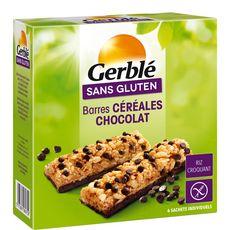 GERBLE Barre céréales chocolat sans gluten sachets 6x22g 132g