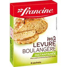 FRANCINE Ma levure boulangère instantanée 6 sachets 6x5g