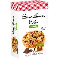 BONNE MAMAN Bonne Maman Cookies aux pépites de chocolats et noisettes, sachets fraîcheu 9 sachets 250g
