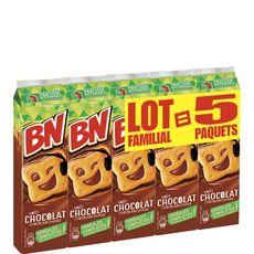 BN BN Biscuits fourrés goût chocolat céréales complètes 5x295g 5x295g
