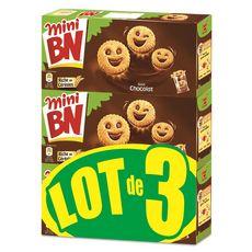 BN BN Minis biscuits fourrés au chocolat 3x175g 3x25 biscuits 3x175g