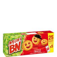 BN Mini biscuits fourrés à la pulpe de fraise 5x5 biscuits 175g
