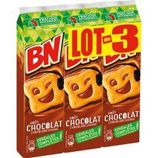 BN BN Biscuits fourrés goût chocolat céréales complètes 3x295g 3x295g