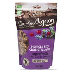 CHARLES VIGNON Charles Vignon Muesli Bio Croustillant Super fruits 375g 375g